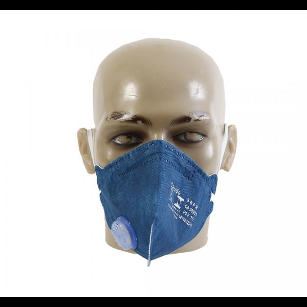 Respirador descartável PFF1 azul royal com válvula - AIR SAFETY
