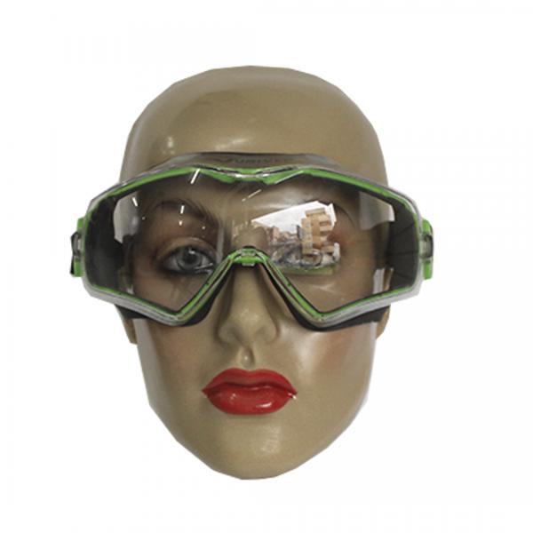 Óculos de segurança 6X3 ampla visão sobrepor verde com elástico - UNIVET