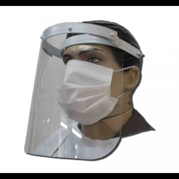 Protetor facial branco com suporte longo line - LINEFORM