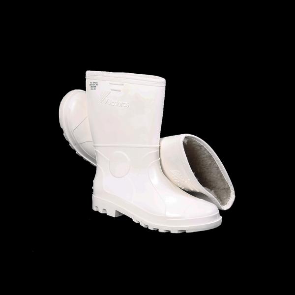 Bota PVC branca impermeável com lã - VULCABRAS