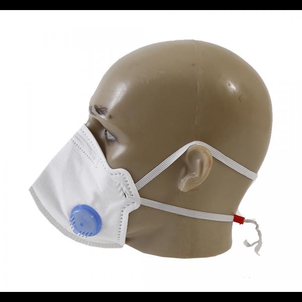 Respirador descartável PFF3 branco com válvula - AIR SAFETY