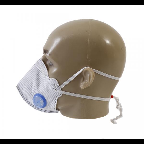 Respirador descartável PFF2 azul e branco com válvula - AIR SAFETY