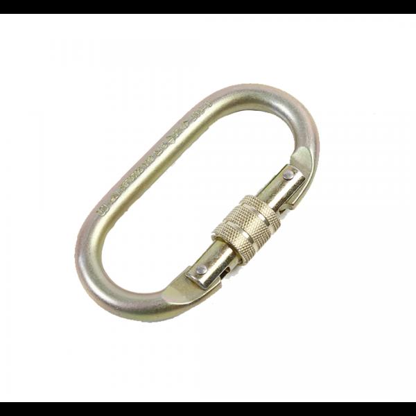 Mosquetão aço oval trava manual 22/25KN - Big compra