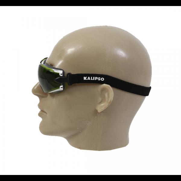 Óculos de segurança com elástico Aruba Anti-Risco e Antiembaçante verde - KALIPSO