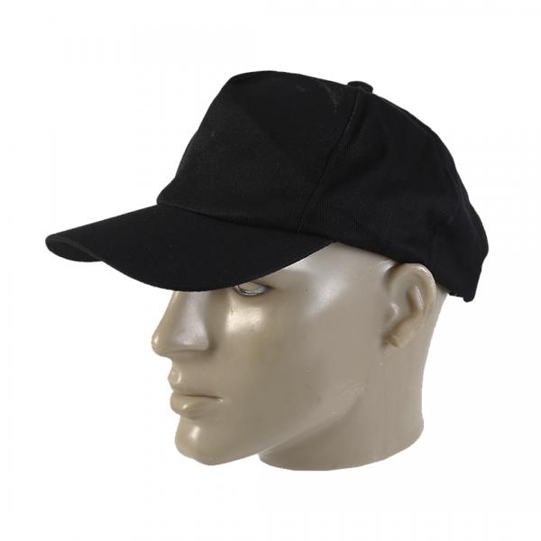 Boné de tecido liso preto