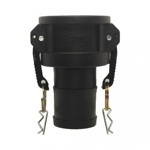 Acoplador camlock para mangueira espigão 2X2 C200 preta - VILUBRI