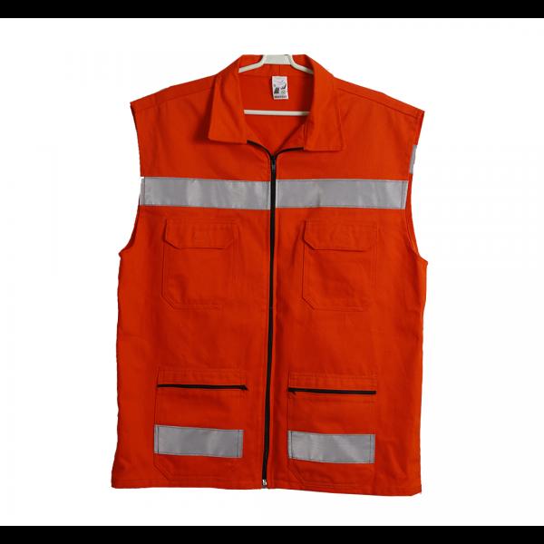 Colete refletivo para defesa civil laranja - PROTEGE
