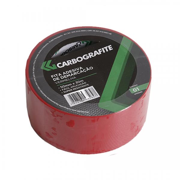 Fita de demarcação adesiva vermelho - CARBOGRAFITE