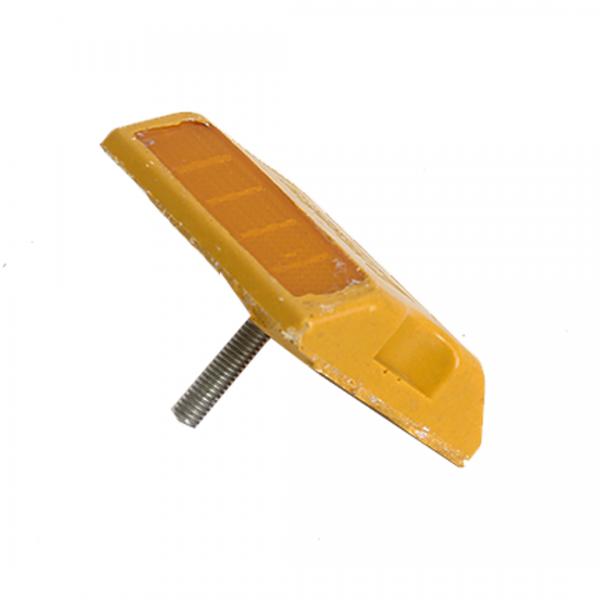 Tacha bi-direcional amarela 11X8CM
