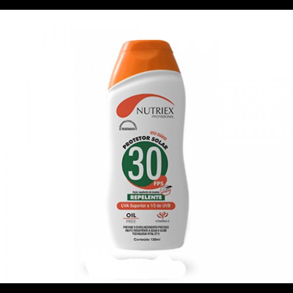 Protetor solar com repelente FPS 30 120ML - NUTRIEX