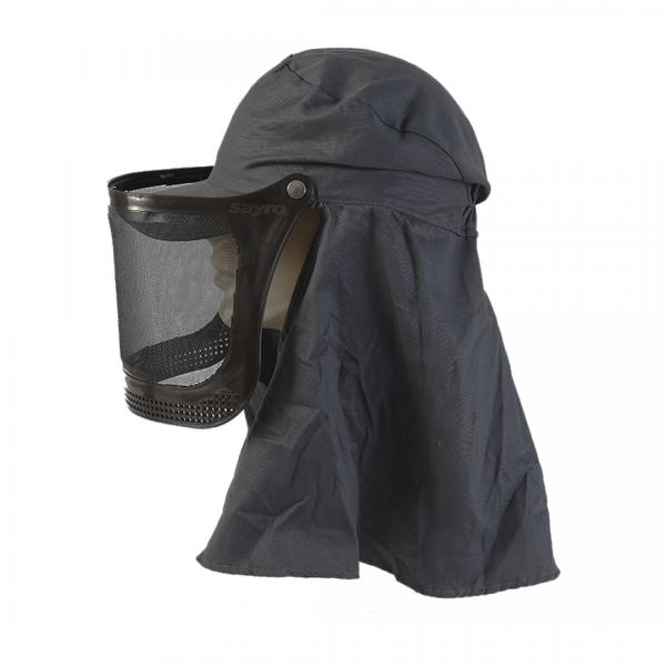 Boné árabe com protetor facial acoplável cinza - Sayro