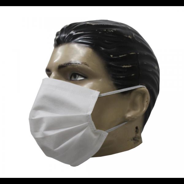 Máscara descartável TNT triplo com elástico em pacote com 50 - PANTANEIRO
