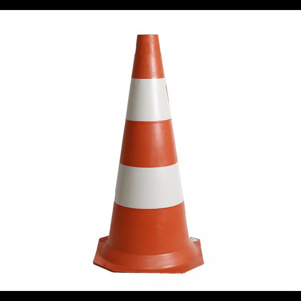 Cone PVC 75CM laranja/branco