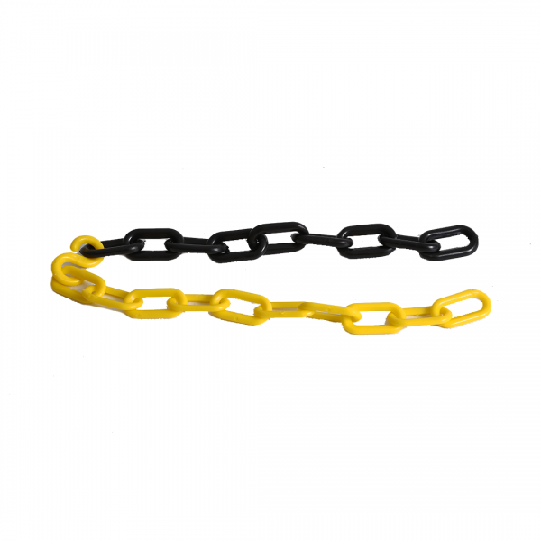 Corrente elo grande preto/amarelo - PLASTCOR