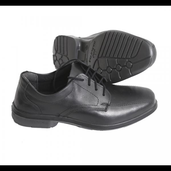 Sapato social de cadarço bidensidade sem biqueira preto - MARLUVAS