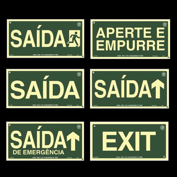Placa indicação SAÍDA