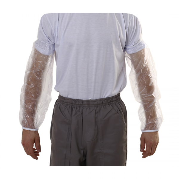 Mangote descartável sem látex pacote com 100 transparente - PREVEMAX